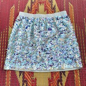 5/$25! Crewcuts Gorgeous Silver Prism Sequin Skirt